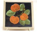 A190 Apples Tile/Teapot stand Bandon Pottery