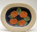 A61 Apples Small oval platter Bandon Pottery