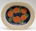 A62 Apples Large oval platter Bandon Pottery