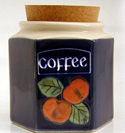 A95n Apples Coffee Jar Bandon Pottery