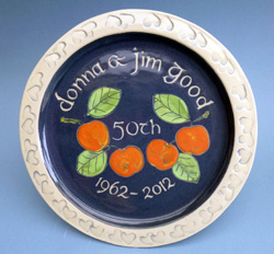 Anniversary Plate with Inscription