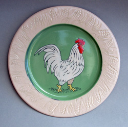 White Rooster Plate